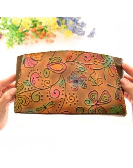 Leather Cosmetic pouch for women
