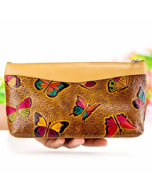 Leather pouch women
