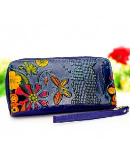 Wallets for women, embossed leather wallet original and cute