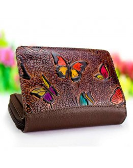 Leather wallet, leather purse for women