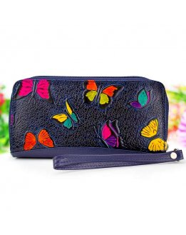 Purses and handbags in genuine embossed leather