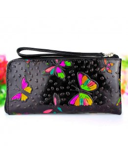 Zipper wallet with coin purse for women