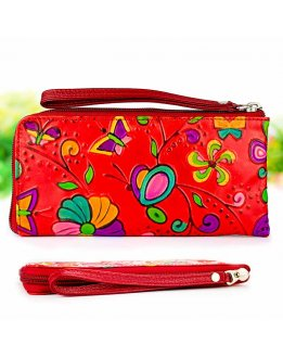 Womens wallet leather coin purse