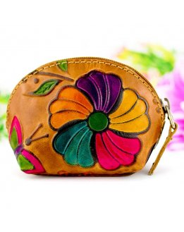Monedero artesanal para mujer
