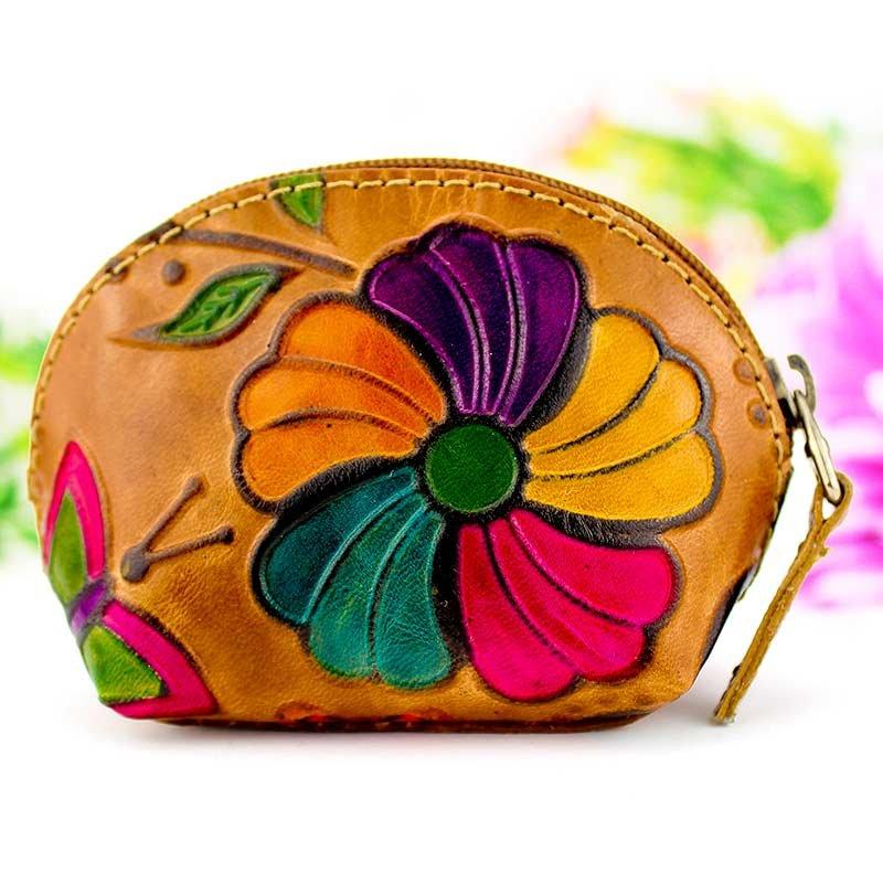 Monedero artesanal piel