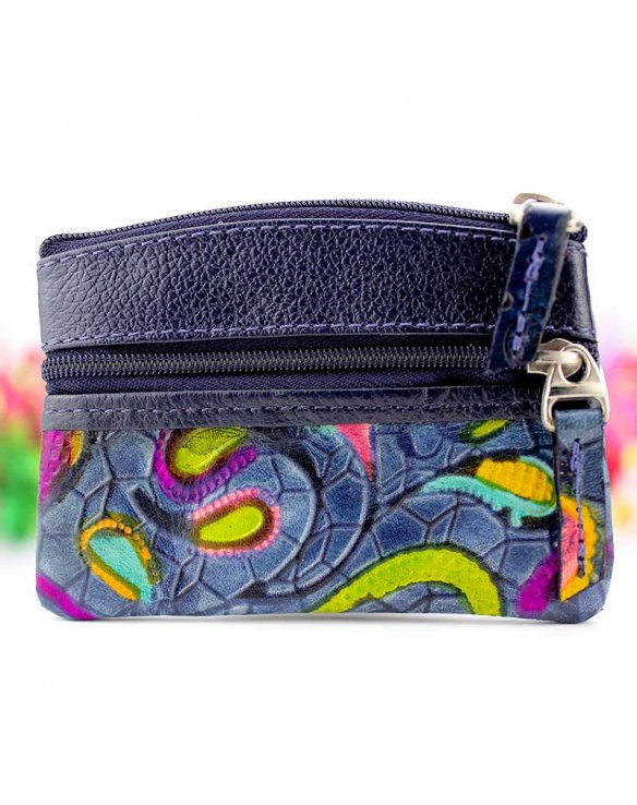 Leather coin purse for woman