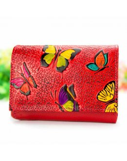 Purses, clutch purse, purse with snap closure handpainted and embossed
